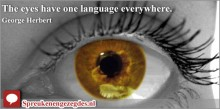 The eyes have one language everywhere.