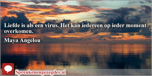 Liefde is als een virus. Het kan iedereen op ieder moment overkomen.