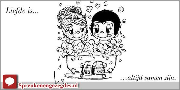 Liefde is altijd samen zijn. Kim Casali